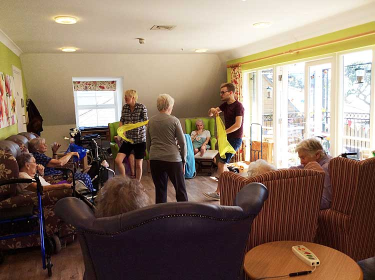 music to improve the memory in care homes